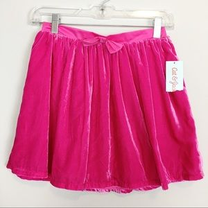 🎉 Party Perfect Hot Pink Lined Skirt NWT!